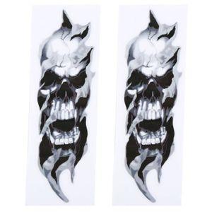 Tete de mort skull skulls sticker autocollant des autocollants tatouage voiture mural 4
