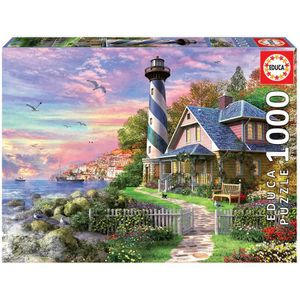 PUZZLE EDUCA - Puzzle - 1000 PHARE A ROCK BAY