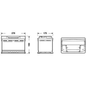 BATTERIE VÉHICULE FULMEN Batterie auto FORMULA FB740 (+ droite) 12V