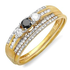 BAGUE - ANNEAU Bague Femme - Alliance Diamants 0.40 ct  18 ct 750
