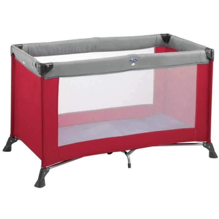 babideal lit parapluie kompak rouge gris rouge gris achat vente lit pliant 3220660111596. Black Bedroom Furniture Sets. Home Design Ideas