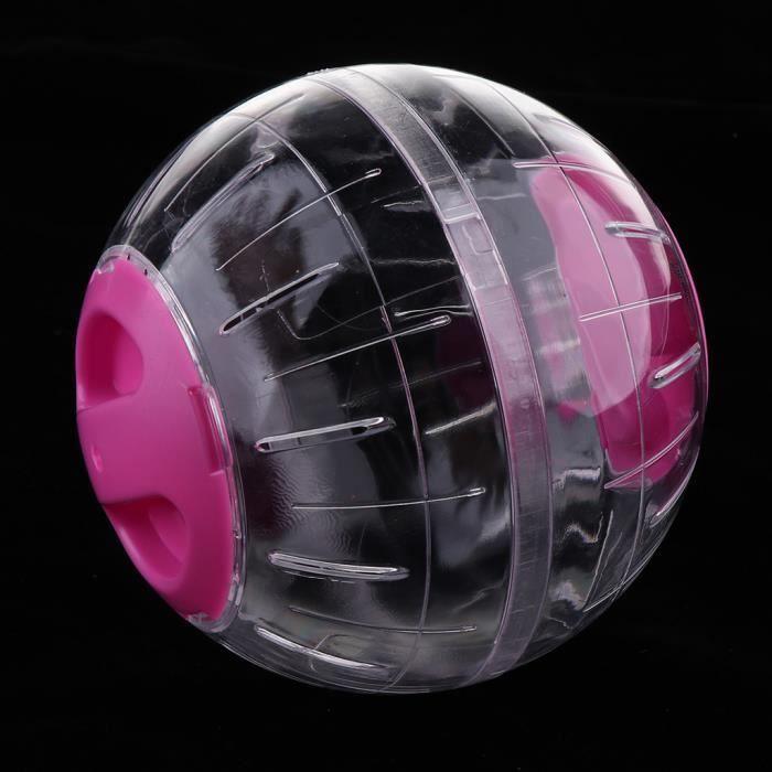 Balle d'exercice de course pour petit animal pour boule de cristal Hamster rose