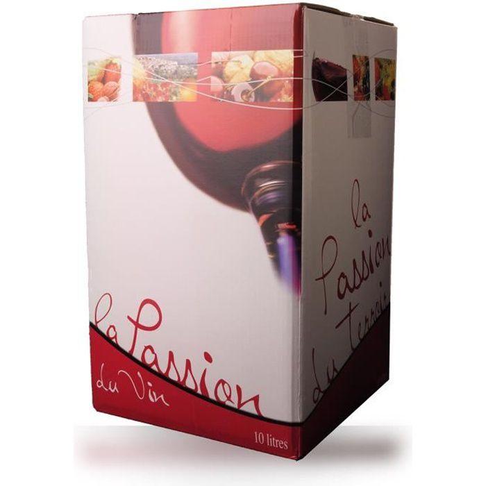 Bag-In-Box 10L Domaine de Lescure Rouge IGP Comté Tolosan - 1000cl - Vin Rouge