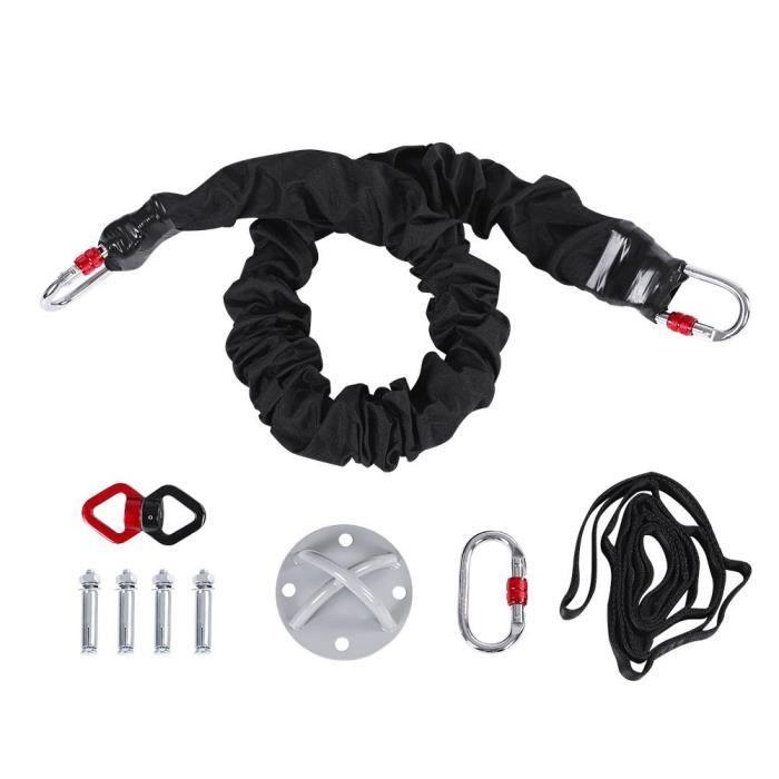 Cordon de suspension pour train de danse aérien avec bande de résistance au bungee anti-gravité équipement de yoga 85kg---XIA