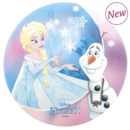 Décorez votre gâteau à l'aide de ce disque azyme Anna et Elsa de la Reine des neiges - Ø 20 cm