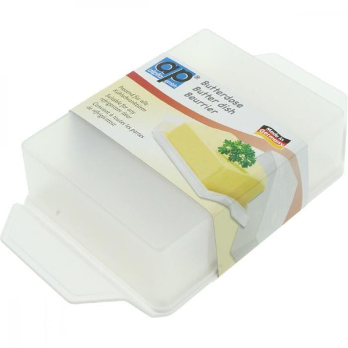 Beurrier Boîte à Beurre Plastique pour Conservation Frigidaire Service de Table