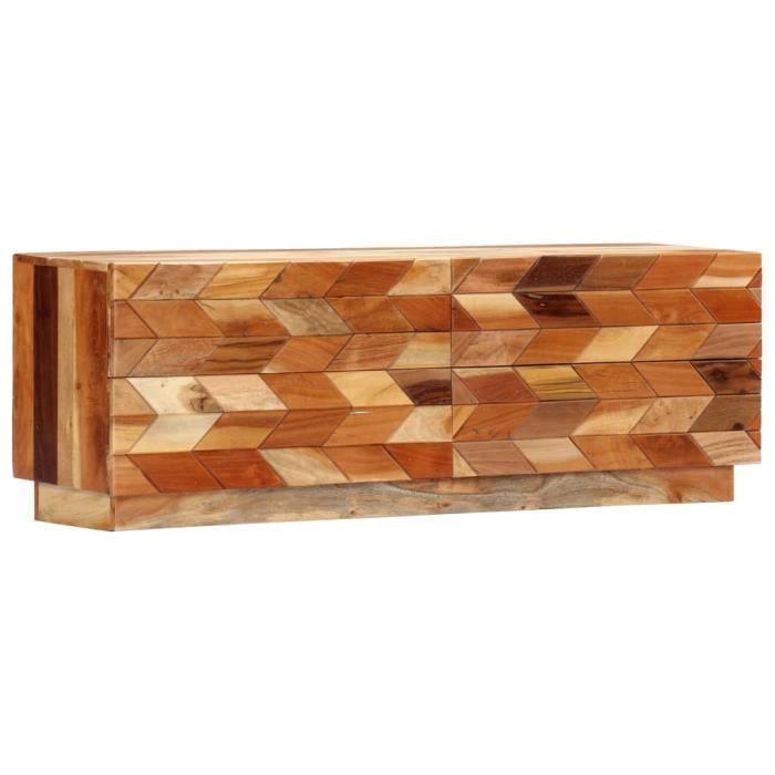 Meuble TV Bas Table pour Salon-Séjour Chic & Haut de gamme Décor - Banc TV Armoire télévision120 x 30 x 40 cm Bois de récup ®NDVZGB®