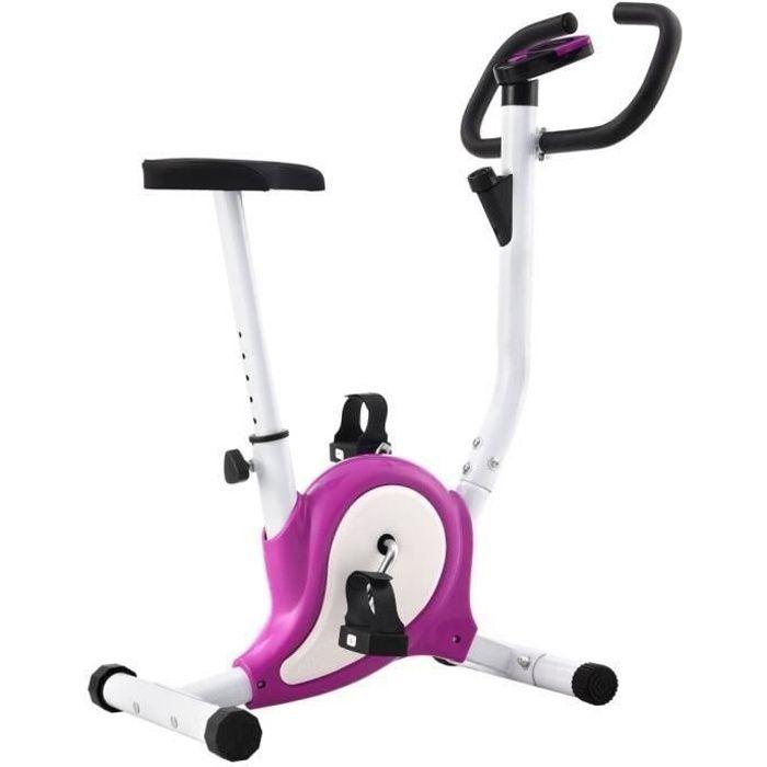 Vélo d'appartement-Vélo Cardio Biking spinning d'Exercice avec résistance à courroie Violet