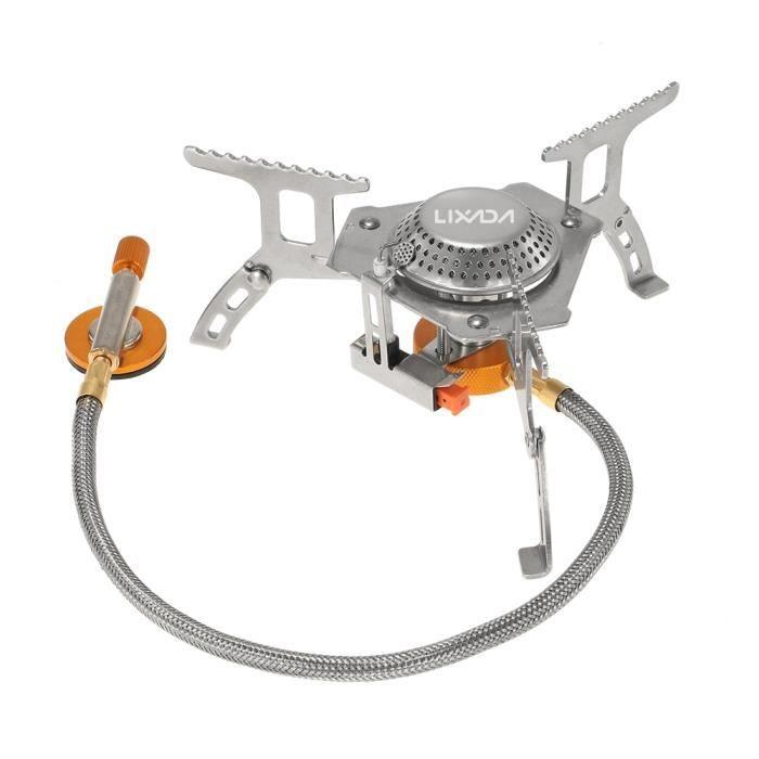 Lixada 3000W en plein air cuisinière à gaz ensemble pliant électronique brûleur à gaz Camping cuisinière à gaz - Type only stove