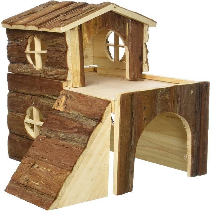 Cage pour petits animaux Trixie 6129 Natural Living Bjork Maison pour Lapin ou Petit Rongeur 31 times 28 times 29 cm65