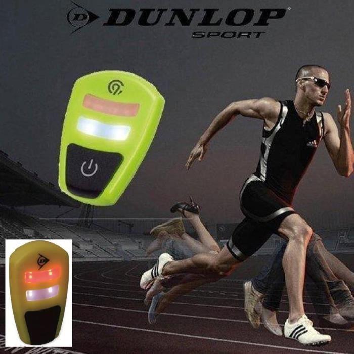 Duo Led Clip DUNLOP Jogging Eclairage Running Lumière Signalisation