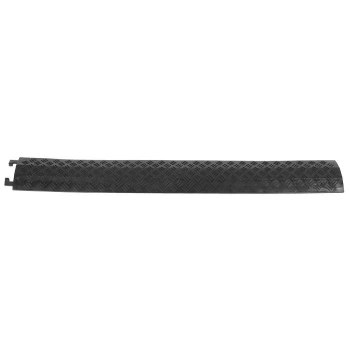 YOSOO Ralentisseur 3pcs couverture de protection de câble de vitesse en caoutchouc monocanal robuste 95 x 13 x 1,6 cm (noir)