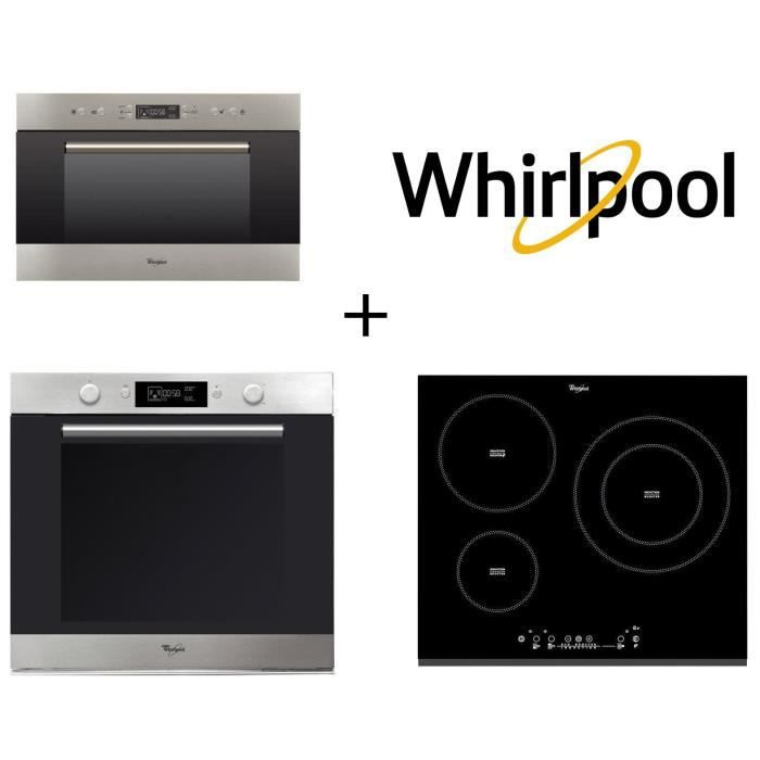 PACK Cuisson WHIRLPOOL AKZM740IX four 73 L + ACM860BF-Table de cuisson induction 3 zones + AMW703IX Micro-ondes encastrable 31L