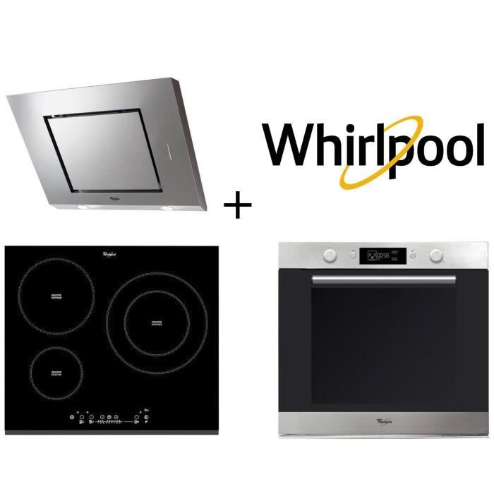 PACK Cuisson WHIRLPOOL AKZM740IX four + ACM860BF-Table de cuisson induction + AKR808IX Elektra hotte decorative