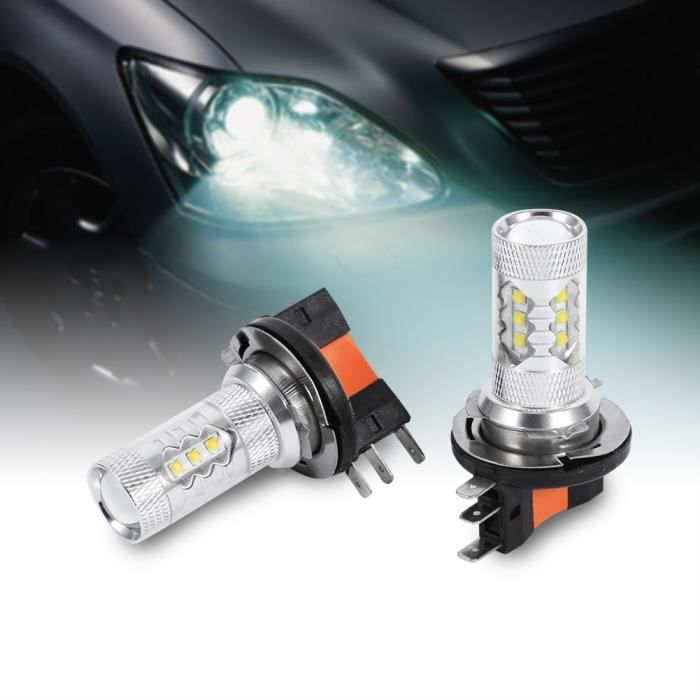 2Pcs Voiture Véhicule 80W LED Phare Kit H15 HID Lampe Blanc - QUT