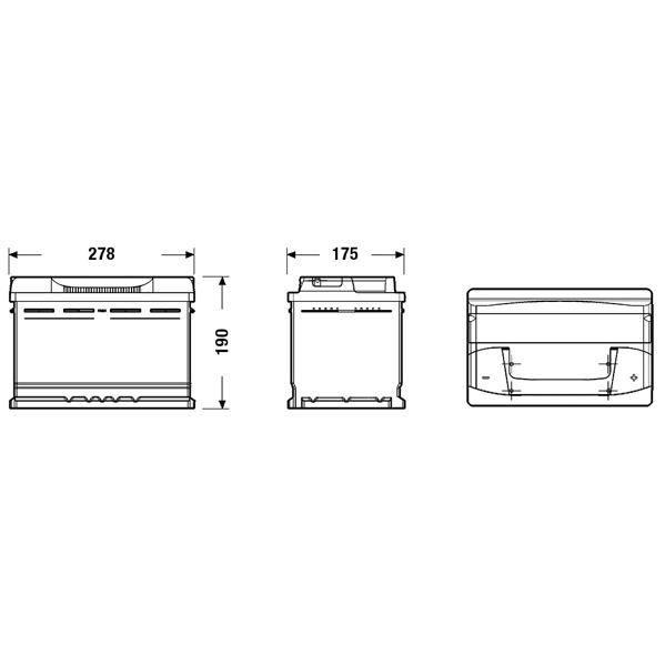 FULMEN Batterie auto FORMULA FB740 (+ droite) 12V 74AH 680A