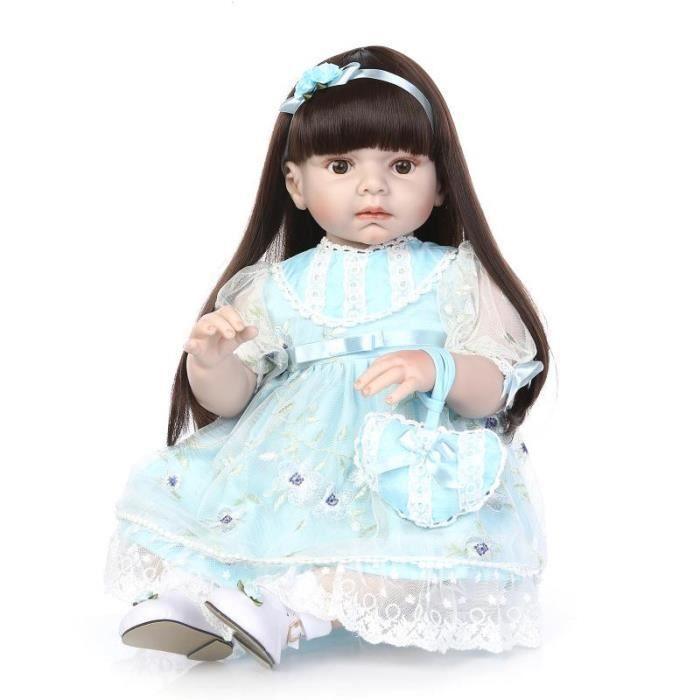70 cm Silicone Reborn Bébé Poupée Grande Sécurité Silicone Princesse Fille Reborn Poupées Jouets Magasin De Tissu Modèle Poupée