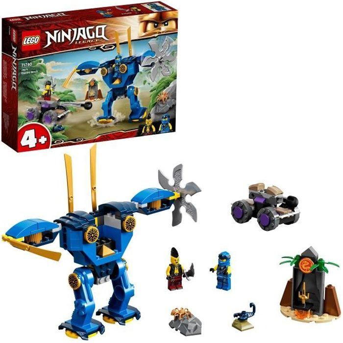 LEGO® 71740 NINJAGO® Legacy L'électrorobot de Jay Jouet Figurine pour Les Enfants de 4 Ans et +, avec La Voiture Spider & Ninja