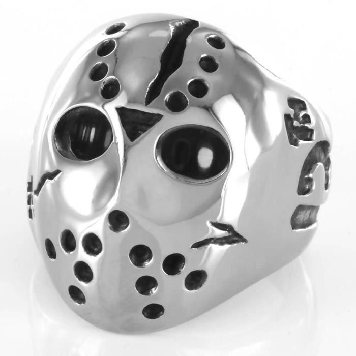 INOKI - Bague acier Jason Mask Vendredi 13 - circonférence 60 mm