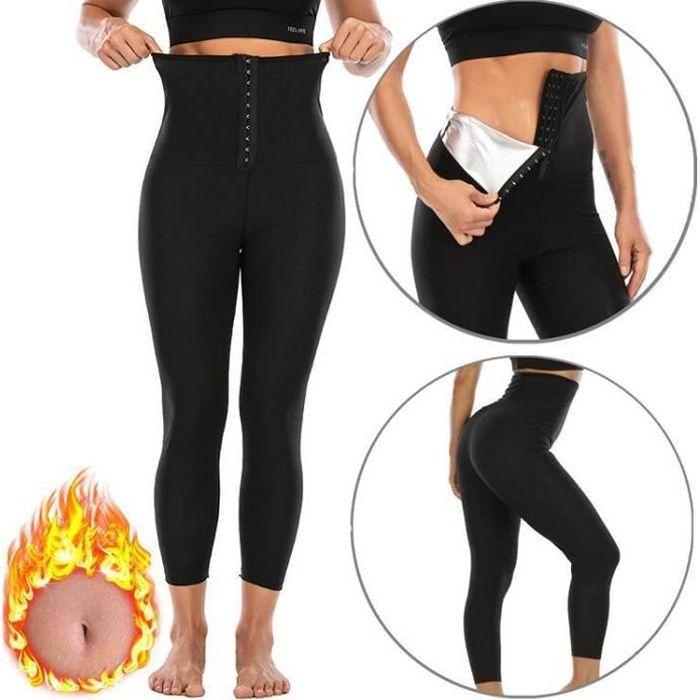 Pantalon Sudation Femme Legging Minceur Néoprène Transpiration Sauna Amincissant Sport Gym Fitness