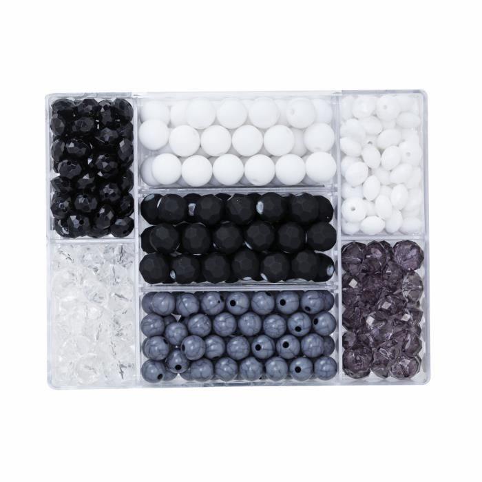 PANDURO Perles noir&blanc