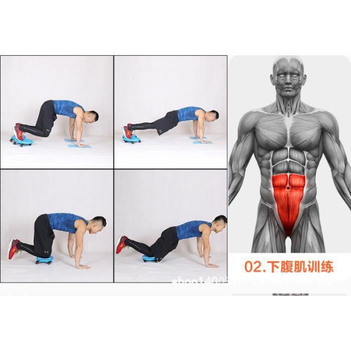 1PC disque abdominal à quatre roues ABS roue d'exercice ventre Fitness roulement pour collègue père APPAREIL ABDO - PLANCHE ABDO
