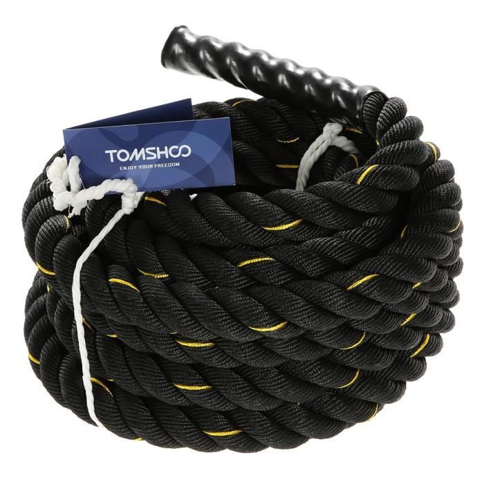 TOMSHOO Corde Ondulatoire Battle Ropes Crossfit Corde Entrainement Crossfit 10m - 12m - 15m