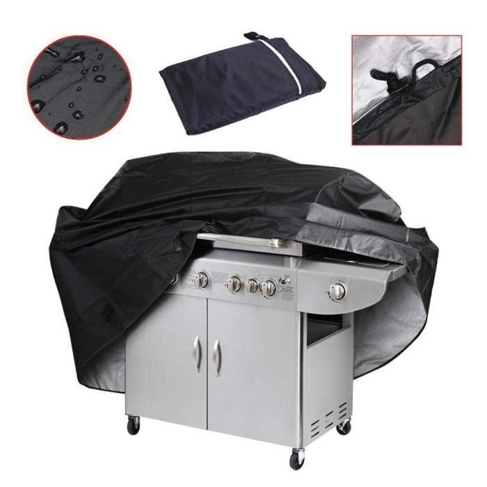 Housse Barbecue Gaz Rectangulaire, Grand Bâche de Protection Barbecue BBQ Couverture pour Protéger- Poussière- Soleil- Pluie pour