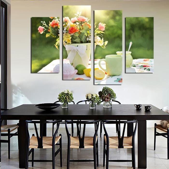 Tasse De Cafe Cuisine Peinture Sur Toile Grand Hd Poster Maison