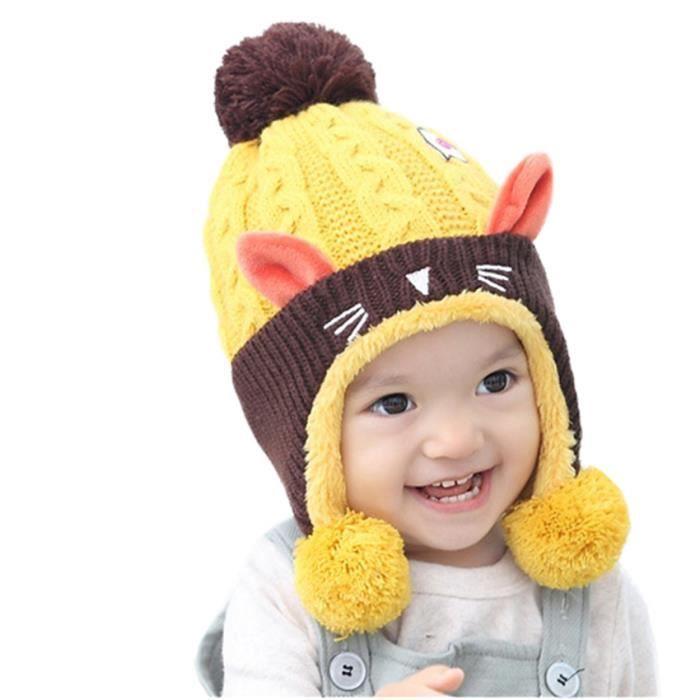 Remarquable MiVogue Bonnet Pour Bébé Hiver Cache Oreille Petit Enfant Garçon ON-94