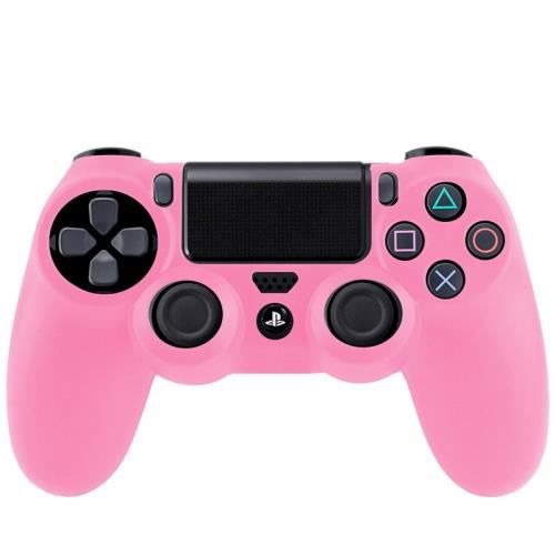 ps4 coque housse silicone manettes rose prix pas cher. Black Bedroom Furniture Sets. Home Design Ideas