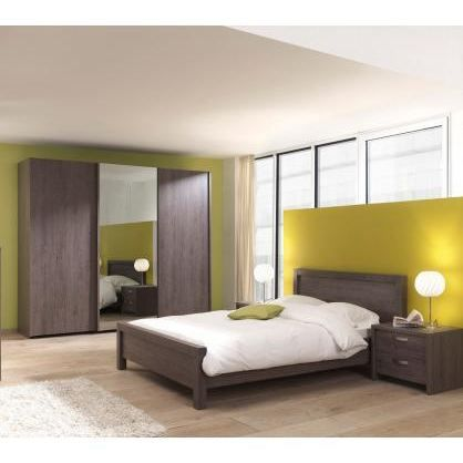 Chambre adulte moderne celeste 160 x 200 cm achat vente lit complet chamb - Chambres completes adultes ...