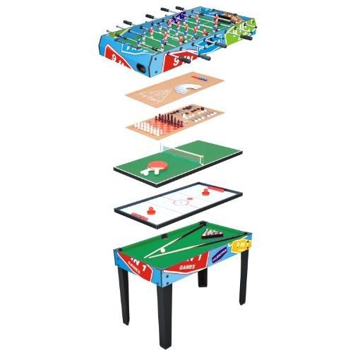 Hudora multifunktionstisch 9 in 1 achat vente table multi jeux cdiscount - Table multi jeux enfant ...