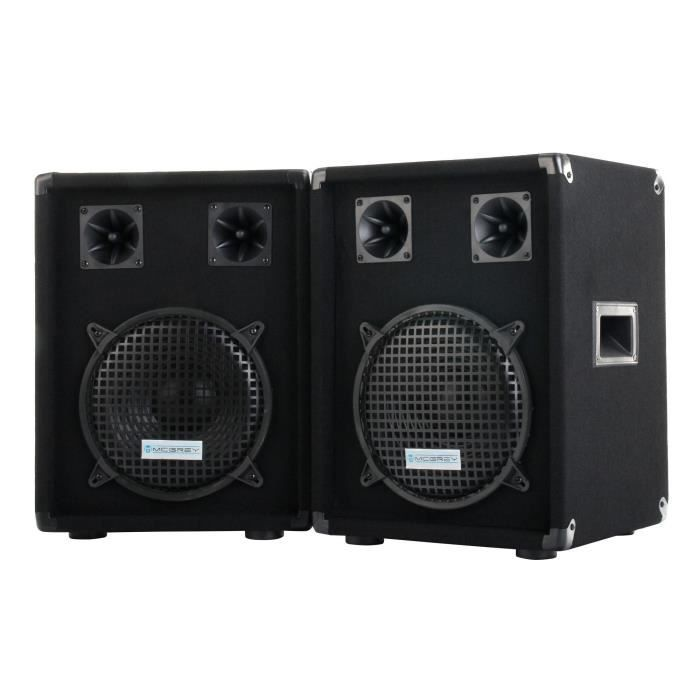 mcgrey dj 1022 enceintes party basement dj paire 2 x 400w enceinte et retour avis et prix. Black Bedroom Furniture Sets. Home Design Ideas
