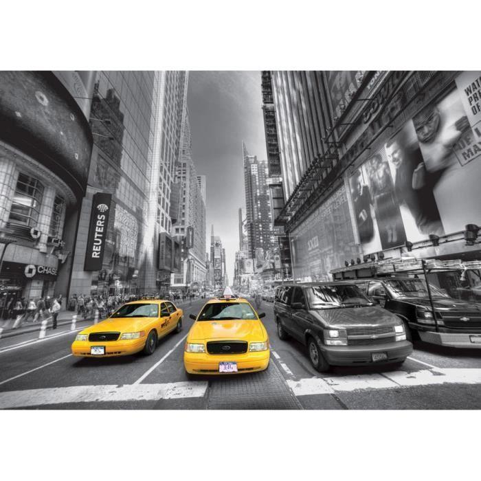 Papier peint photo Papier Peint Image facile installer Polaire New York Jaune Taxi