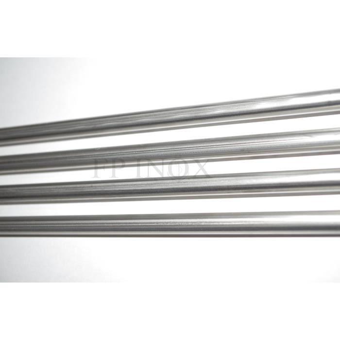 Tube inox 30mm x 1.5mm x 1 mètre Poli Miroir 316