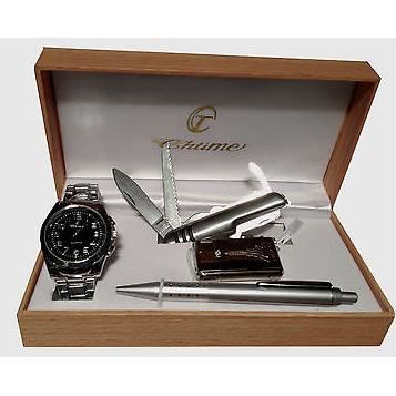coffret cadeau homme montre stylo couteau suisse b achat vente pack montre cdiscount. Black Bedroom Furniture Sets. Home Design Ideas