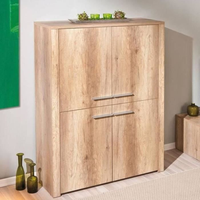 buffet haut absoluto en bois ch ne brut avec 4 achat vente buffet bahut buffet haut. Black Bedroom Furniture Sets. Home Design Ideas