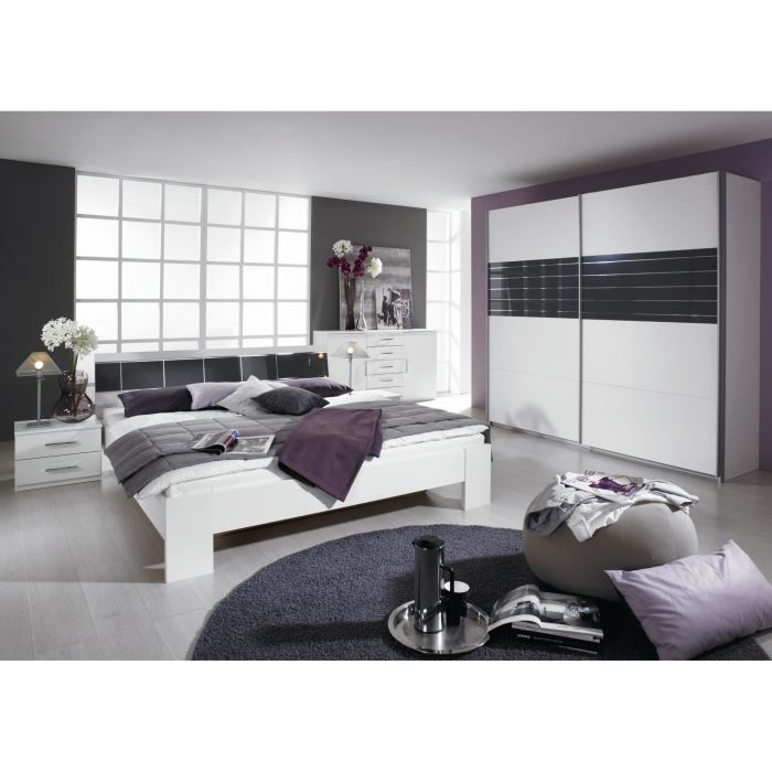 Chambre adulte compl te design slide achat vente for Chambre complete adulte led