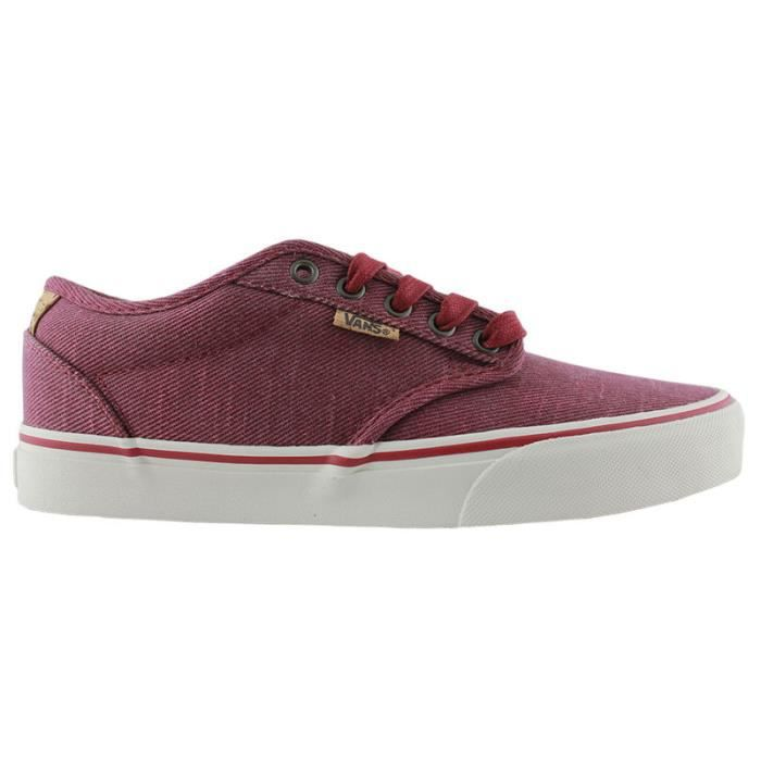 Basket Vans atwood deluxe whased twill red kids