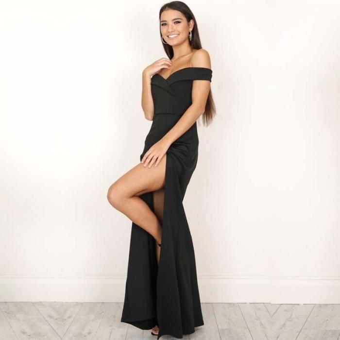 Robes Femmes Robe De Soiree Sexy Sans Bretelles Pfx Nz033noir S Noir Achat Vente Robe Cdiscount
