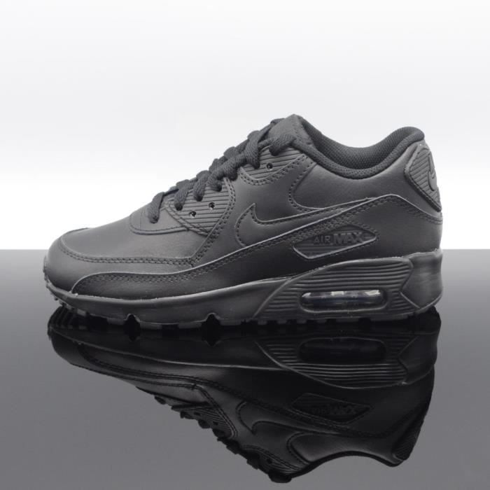 reputable site 4734e 4c360 BASKET NIKE Air Max 90 Ltr Noir Femme-Junior 833412-001