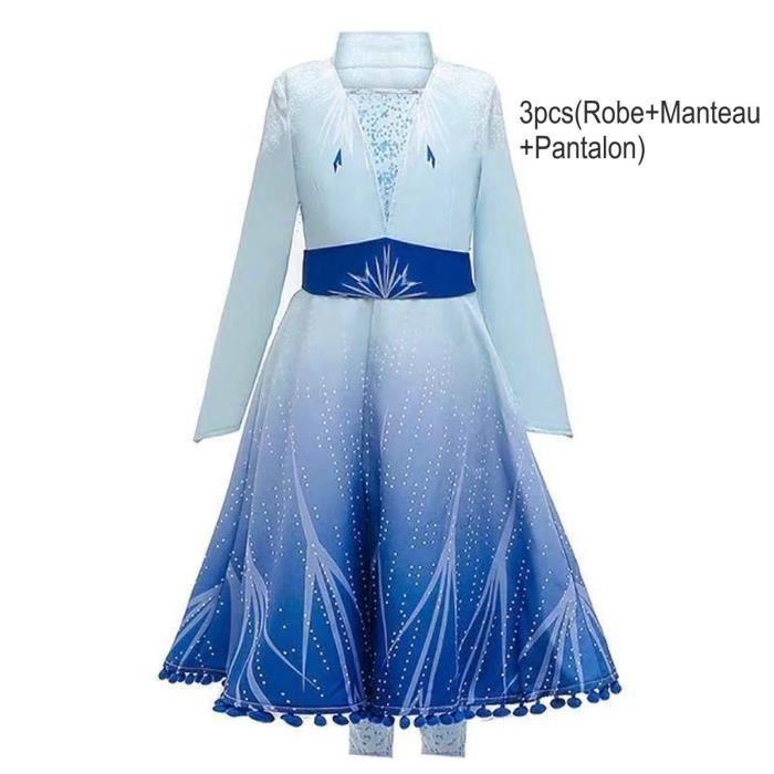 Robe Princesse Enfant Fille Pour Elsa Deguisement 3 10 Ans 100 160cm Carnaval Noel Halloween 2019 Bleu Bleu Bleu Achat Vente Robe Bientot Le Black Friday Cdiscount