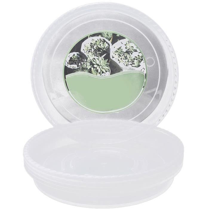 Plateaux d/égouttage pour Plantes dint/érieur et dext/érieur Soucoupe pour Pot de Fleur en Plastique Soucoupe pour Plantes