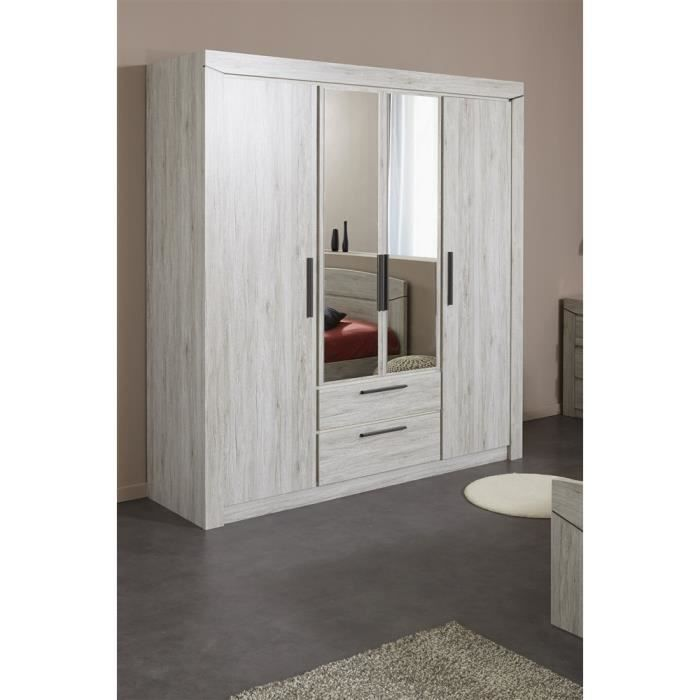 armoire sacha grise achat vente armoire de chambre. Black Bedroom Furniture Sets. Home Design Ideas