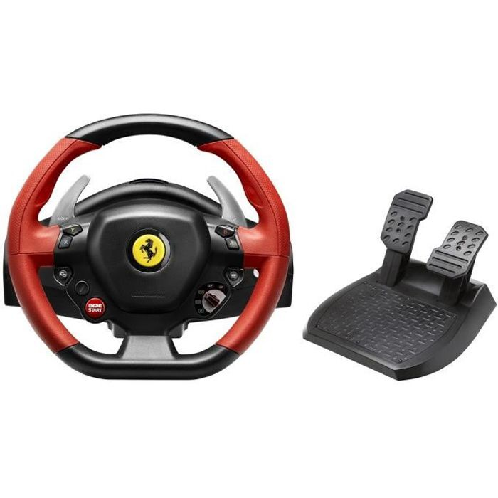 volant ferrari 458 spider racing wheel xbox one achat vente volant console volant p dalier. Black Bedroom Furniture Sets. Home Design Ideas