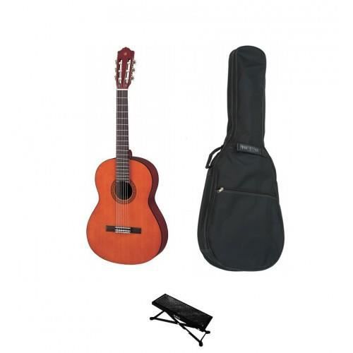 pack guitare classique yamaha 1 2 repose pied housse. Black Bedroom Furniture Sets. Home Design Ideas