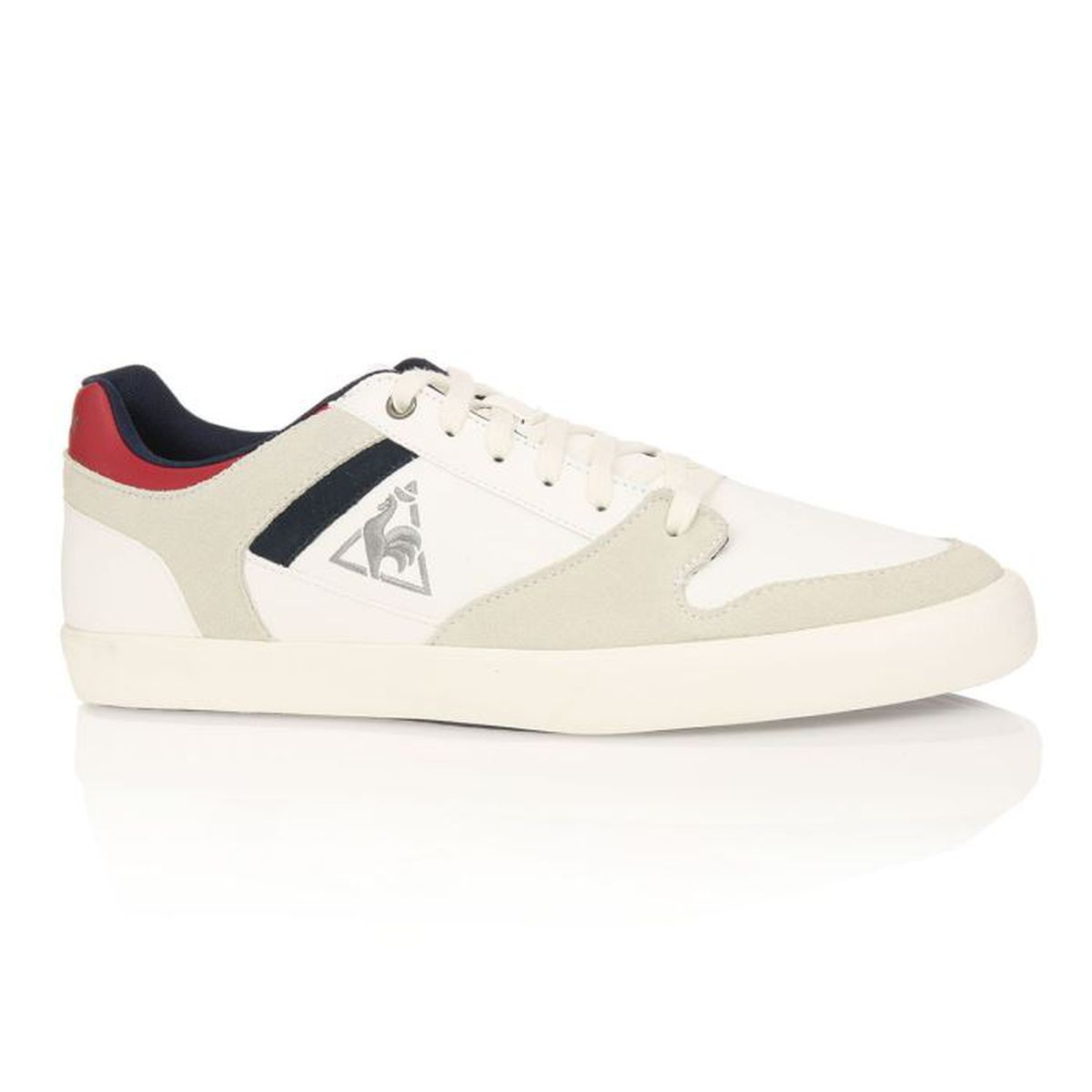 le coq sportif baskets peletier homme homme blanc gris achat vente le coq sportif baskets. Black Bedroom Furniture Sets. Home Design Ideas