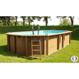 Piscine semi enterr e achat vente piscine semi for Piscine hors sol 8x4 bois