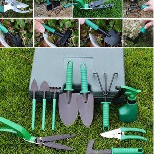 Transplantoir Fourche D/éplantoir Griffe Sac Portable et Une Paire de Gant Jardin Kit de Outils de Jardinage -/Kit de jardin 8 en 1 Compris S/écateur Truelle